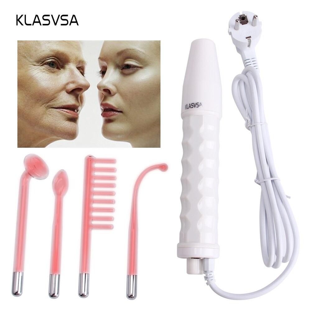 Дарсонваль жезл 4 в 1 высокой частоты Remover лица Уход за кожей лица спа салон терапии акне устройства + 1 адаптер ЕС glaselektrode