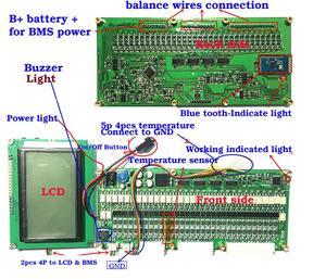 Image 4 - Smart 8S   32S بطارية bms لوح حماية بلوتوث APP Lifepo4 ليثيوم أيون BMS 70A/100A /200A/300A 14S 16S 17S 20S 22s