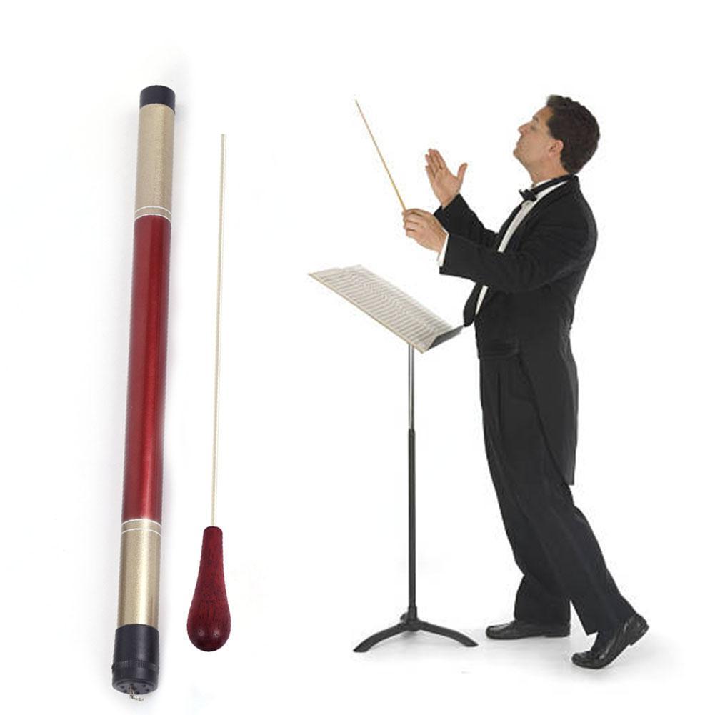 Music Conductor Custom Baton Rhythm Band Music Director Orchestra Concert Conducting Baton Rosewood Handle With Bamboo Tube