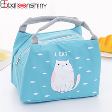 b1afe07319 BalleenShiny Portable Small Lunch Box Bag Outdoor Convenient Picnic Bag Ice  Pack Thick Student Foods Insulation