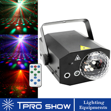2in1 Laser Light Portable Projector Wireless Remote Control RGB LED Disco Ball Light Music Reaction for Stage Club Dj Home Party
