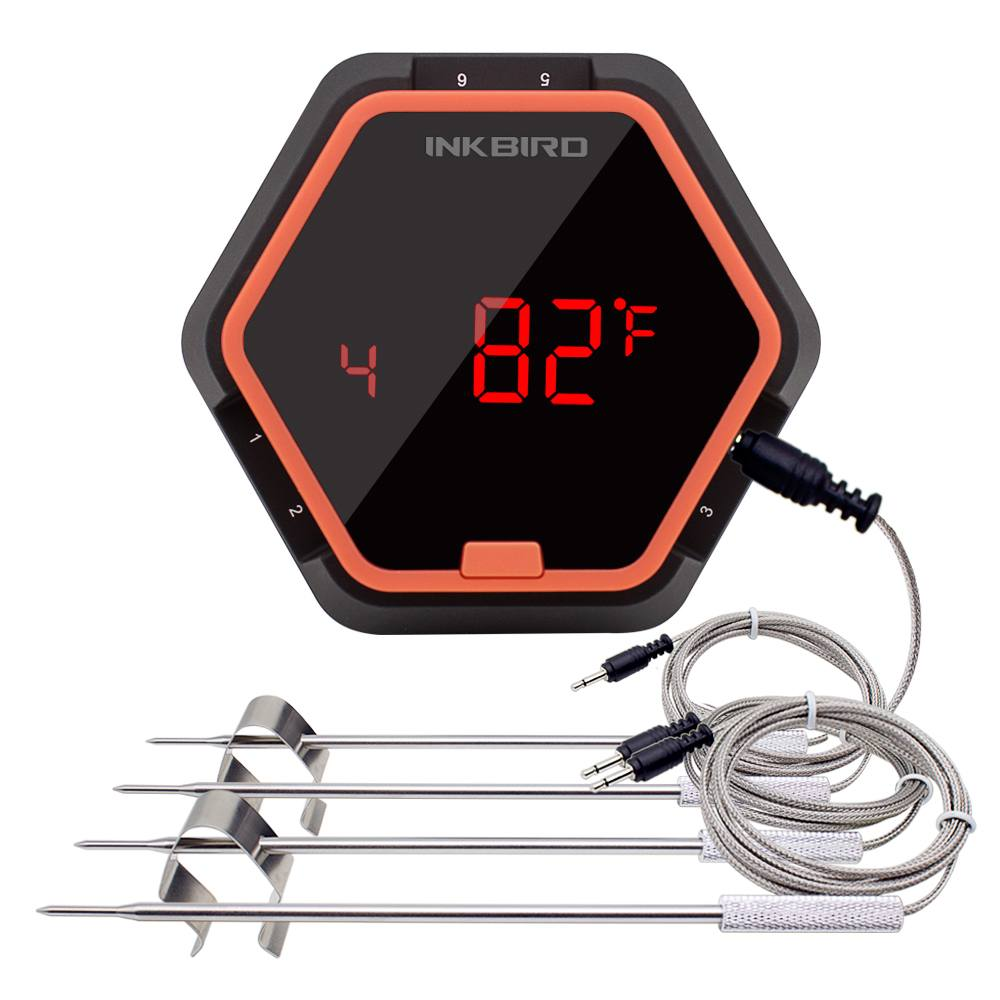 INKBIRD 4 Probes Digital Wireless Bluetooth Kitchen Thermometer for Cooking Gauges BBQ Cooking Food Probe Milk Meat with timer mymei useful pocket credit card size timer kitchen cooking countdown study rest