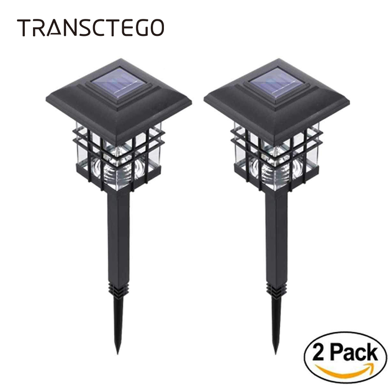 2 PCS Solar Post Lamp For Garden Wall Light Waterproof Outdoor Lighting lampada Waterproof Solar Powered Lampe Led Pillar Light