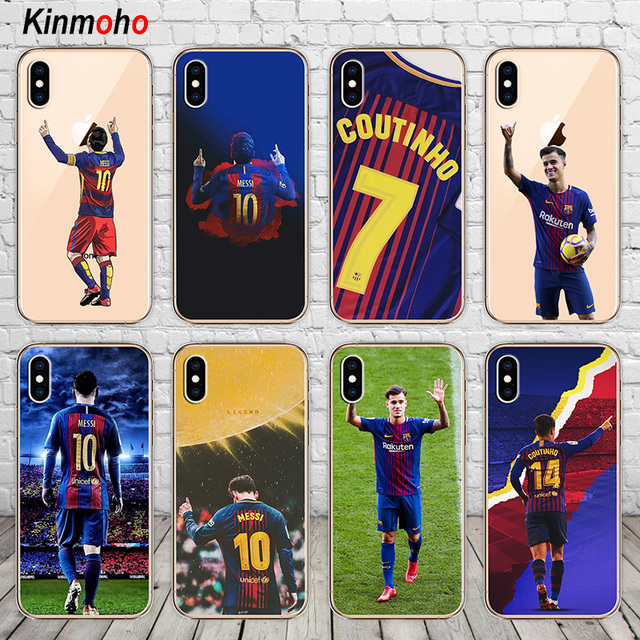 6500474d0 Barcelona Lionel Messi Philippe Coutinho Football Soft TPU Phone Case Cover  For iPhone 7 6 6S 8 Plus 5 5S SE X XS MAX XR Fundas