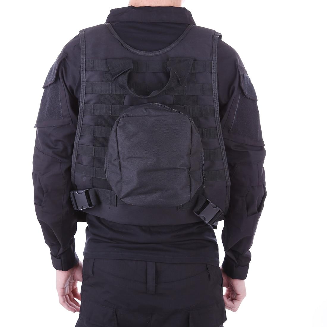 Gilet multi-fonction FSBE extérieur tactique résistant aux coups de couteau pour Nerf CS Defence Sportswear-noir