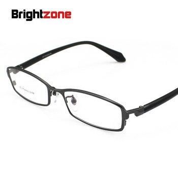 466b35d2fe Gafas brillantes de diseño de marca de nuevo hombre Gafas de Metal de  titanio marco completo gafas ópticas de moda lentes transparentes gafas de  miopía