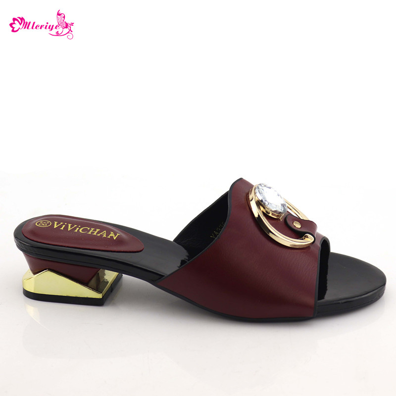 High Quality African Women Sandals Shoes Summer Fashion Flannelette Material High Heels Shoes For Party DressHigh Quality African Women Sandals Shoes Summer Fashion Flannelette Material High Heels Shoes For Party Dress
