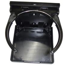 Adjustable Folding Black Nylon Drink Cup Holder for Boat Car Marine Rv Caravan