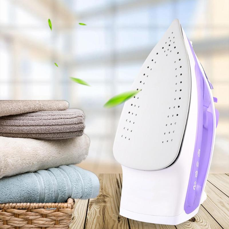 2400W Portable Electric Iron Mini Handheld Steam Iron Ceramic Baseplate Garment Laundry Ironing Steamer for Travel