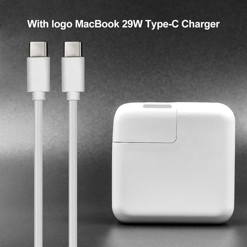 BINFUL Neue 29 watt USB-C Power Adapter Ladegerät Typ-C (Mit Logo) für Neueste Macbook Pro 12 zoll A1534 1540 1646 (nur in 2015)