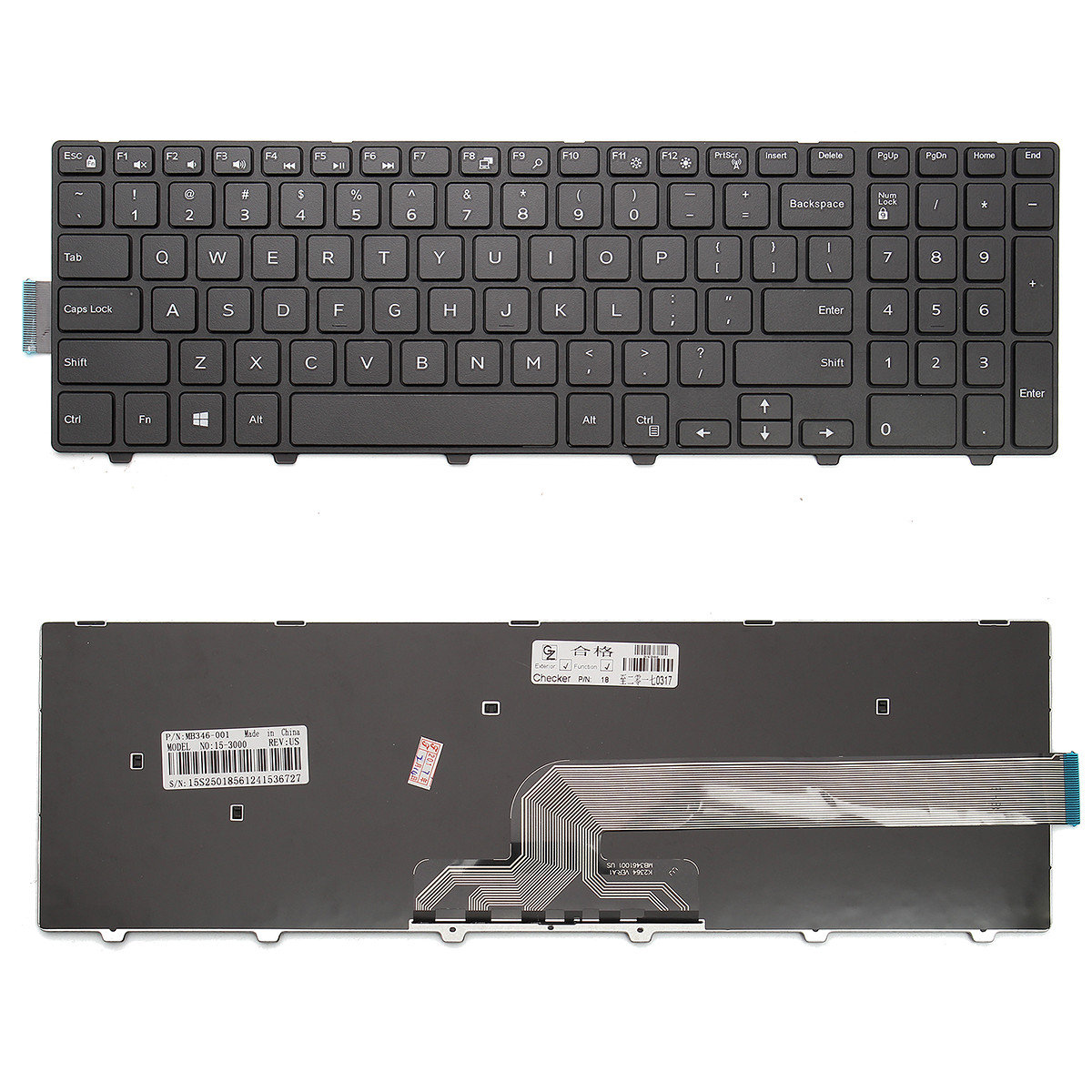 New Black FR French keyboard fit Dell Inspiron 15 5548 5551 5552 5555 5558 5559
