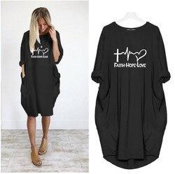 2019 New Fashion shirts Fashion Faith Hope Love Letters Print Tops Tshirt Funny Kyliejenner Rock tshirt women plus size 3
