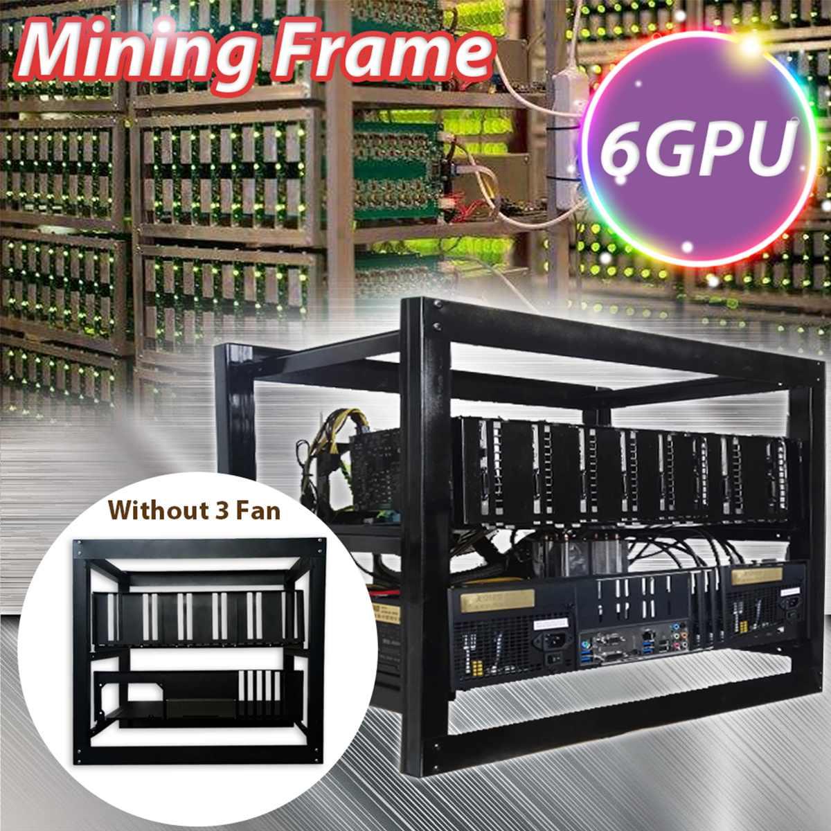 Mining Rig Aluminum Stackable Case Open Air Frame ETH/ZEC/Bitcoin