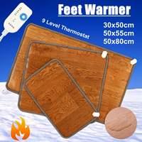 3 أحجام الشتاء التدفئة القدم حصيرة مكتب المنزل الكهربائية لوحة التدفئة القدمين الدافئة ترموستات السجاد الجلود المنزلية أدوات الاحترار