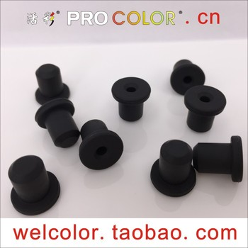 Soft Silicone rubber plug mats round chassis mats with hole adsorption anti-skid cover 25/64 10mm 10 10.1 10.2 10.5 10.6 mm