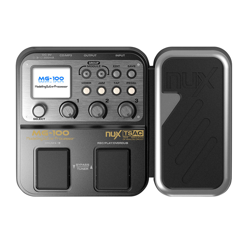 NUX MG 100 Guitar Pedal Multi effects Pedal 58 Effect Models 20 seconds loop drum machine