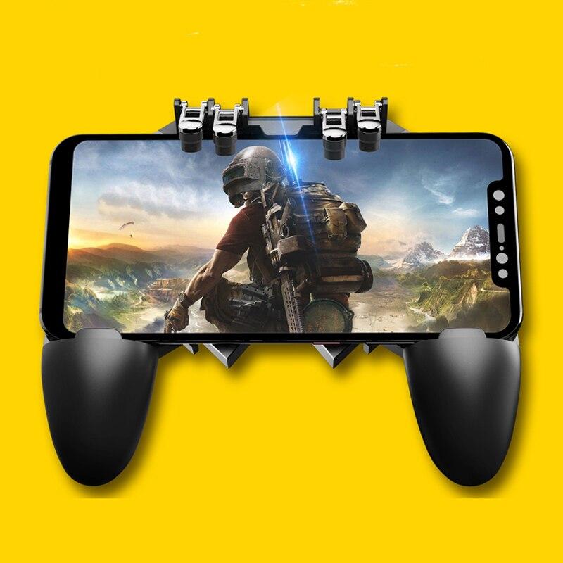 Six Finger Joystick Gamer Trigger Controller for PUBG Mobile for Arena of Valor Smartphone Control Gamepad Shooter