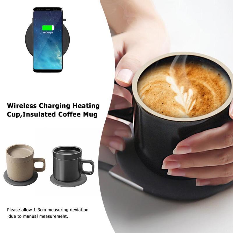 Tasse à café chauffante 55 degrés électrique Intelligent sans fil charge tasse à café chauffante tasses céramique japonaise thé lait tasse