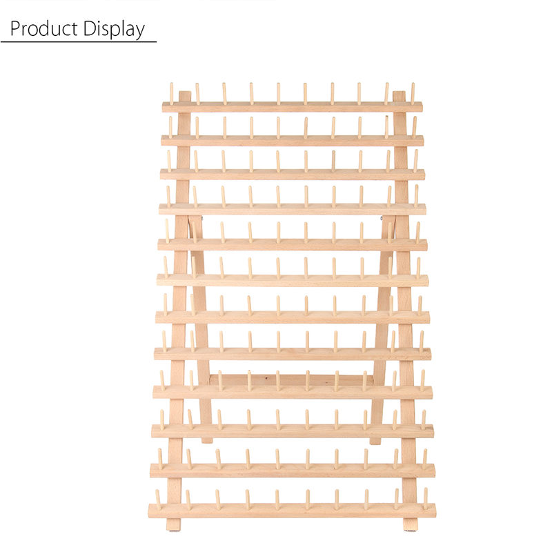 KiWarm 120 Spools Wood Folded Thread Rack Sewing Embroidery Stand Holder Organizer Sewing ToolsKiWarm 120 Spools Wood Folded Thread Rack Sewing Embroidery Stand Holder Organizer Sewing Tools