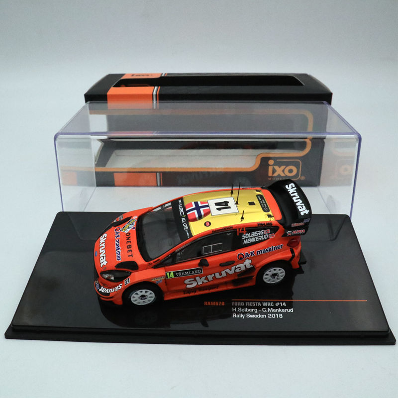 IXO 1:43 Ford Fiesta WRC #14 Rally Sweden 2018 RAM670 Limited Edition Collection Toys Car Models