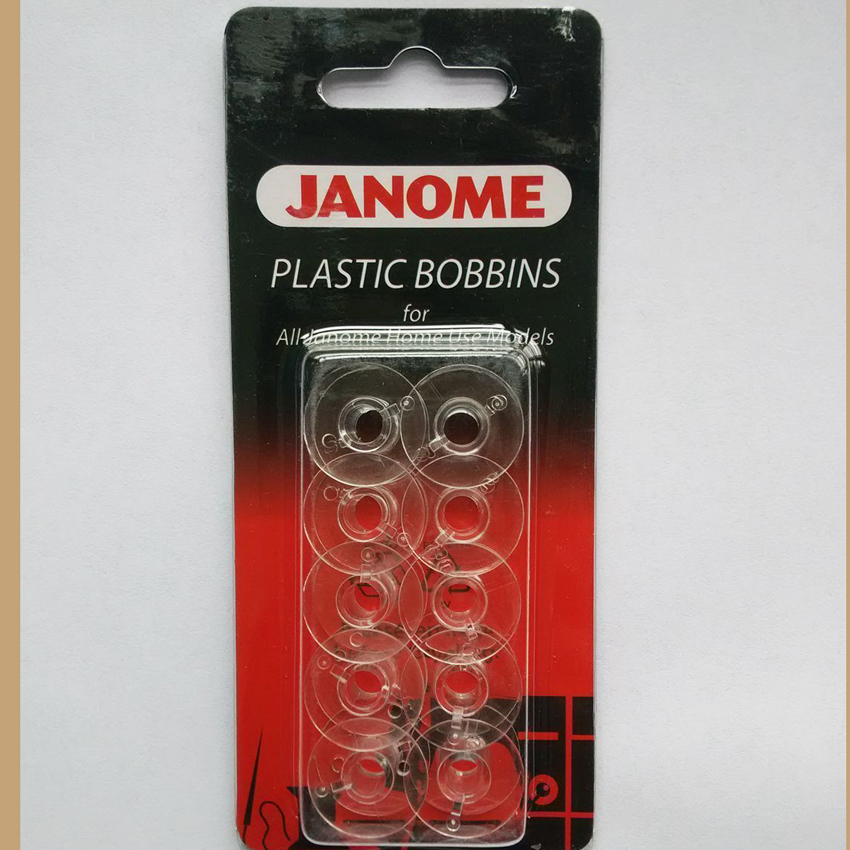 JANOME Plastic Bobbins X10 In Packet For All Janome Home Use Model 200122005