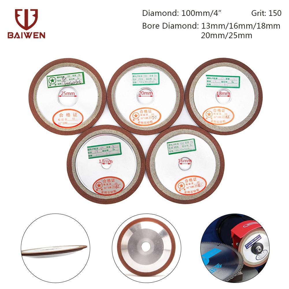 100mm Diamond Grinding Wheel Disc Cutter Blade Sharpener Grit150 F Carbide Metal Cutter Tool Alloy Milling Grinder Accessories