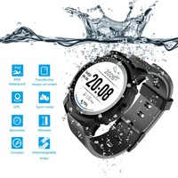 FS08 Smart Watch Men IP68 Waterproof GPS Sports Fitness Tracker Stopwatch Heart Rate Monitor Wristwatch Clock for Android IOS