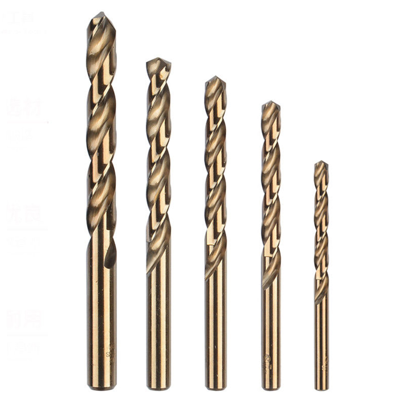 5pcs High Strength Drill Bit HSS CO M35 Cobalt Twist Drill Bits For Metal Steel 1mm 2mm 3mm 4mm 5mm
