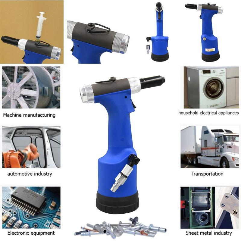 Pneumatic Air Hydraulic Rivet Gun Riveter Industrial Nail Riveting Tool