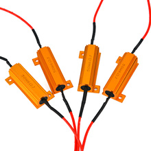 10 pz 50 w Lampada Led Decoder Luce di Freno di Errore Canceller Resistore del Carico Fix Luce di Freno di Errore Cancellers