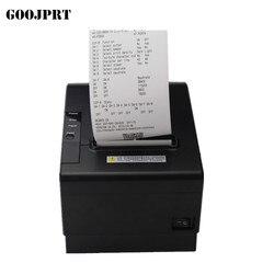 Impresora térmica de recibos de alta calidad 200 mm/s 80mm, impresora térmica de cocina, impresora de corte automático con impresión USB + Serial/Lan/bluetooth