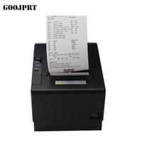 POS printer High quality 200mm/s 80mm thermal printer Kitchen printer Auto Cutter printer with USB+Serial / Lan /bluetooth print