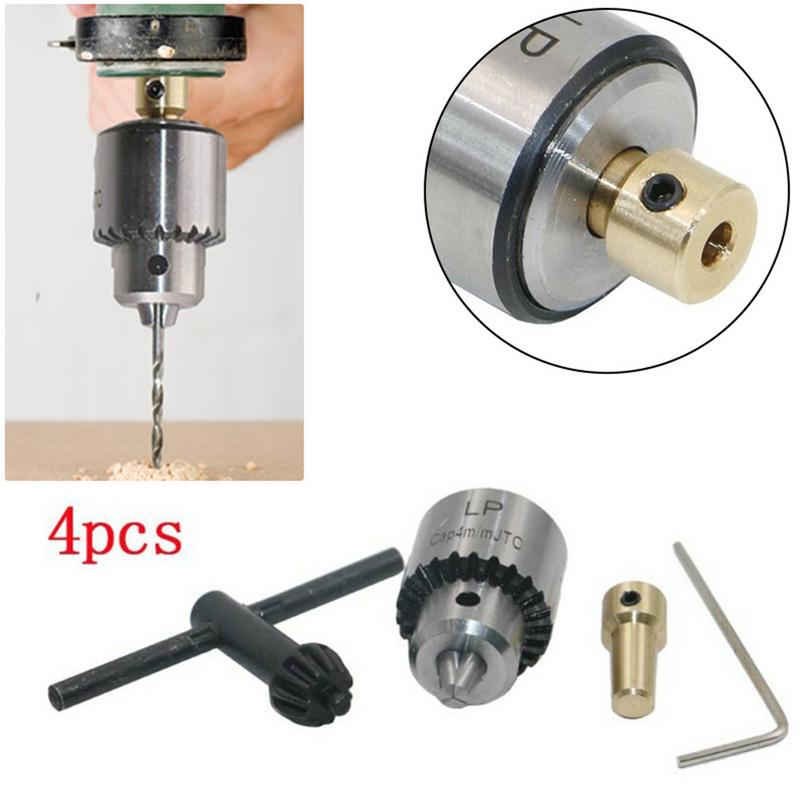 Image 2 - Drill Chuck Wrench Drill Chuck Miniature Mini Three jaw 0.3  4mm Miniature Motor drill chuck set-in Tool Parts from Tools