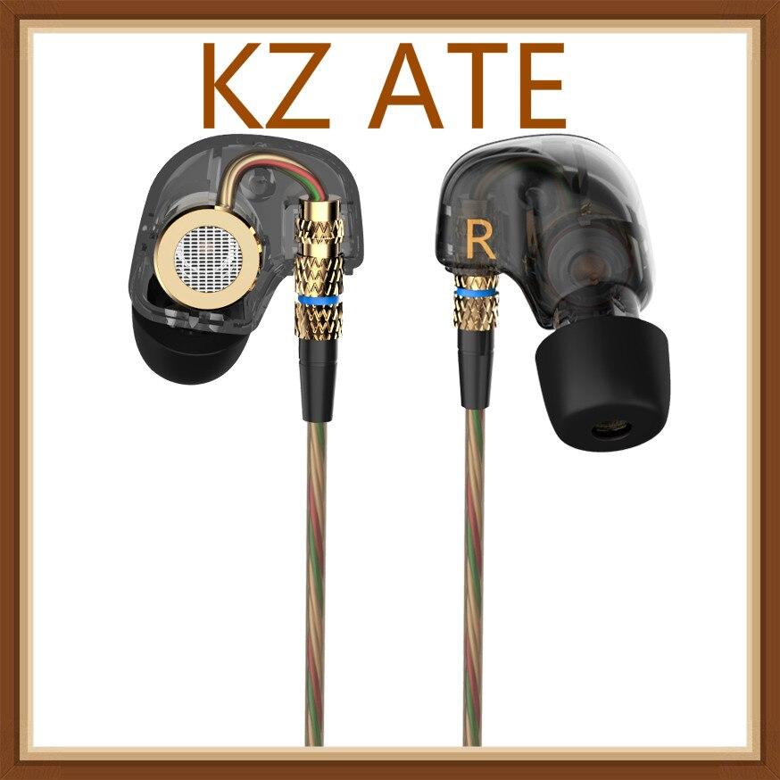 Original KZ ATE 3.5mm In Ear Earphones HIFI Metal Stereo Earphones Super Bass Noise Isolating Sport Earbuds With Mic