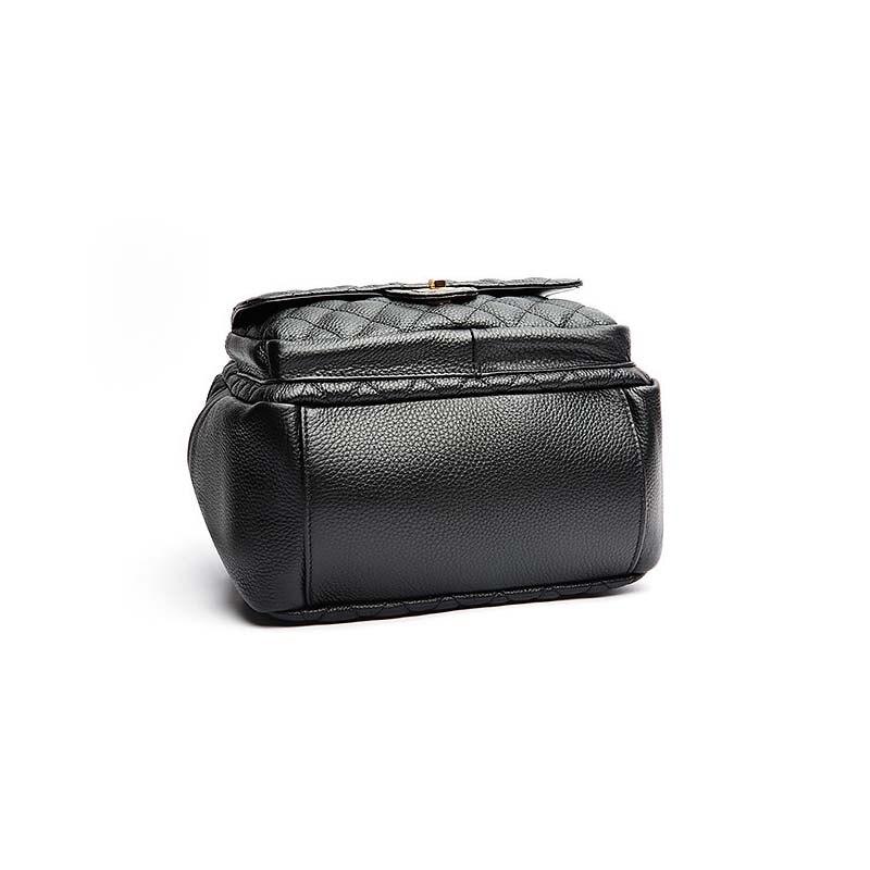 ALNEED sac à dos en cuir véritable femmes petit sac à dos pour concepteur d'école sacs de luxe femmes sacs 2019 treillis de diamant Mochila - 4