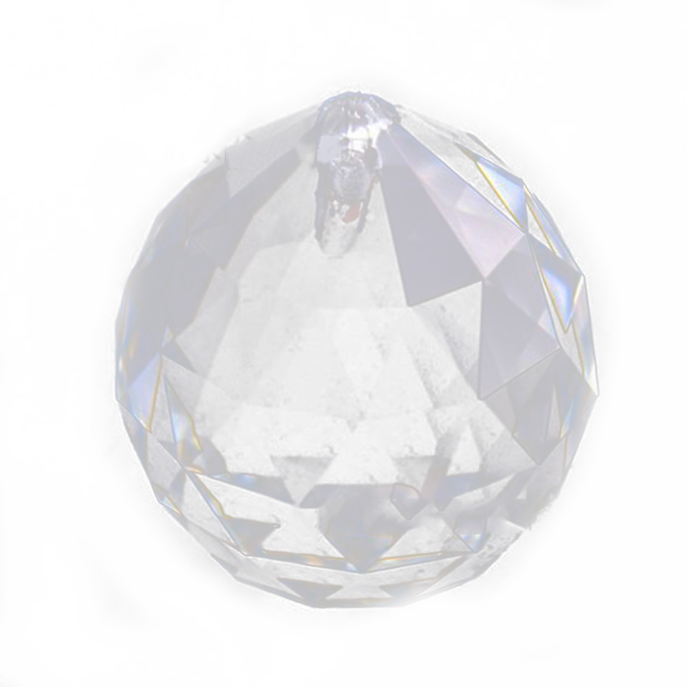 50mm Clear Faceted <font><b>Glass</b></font> <font><b>Crystal</b></font> Prisms Balls For Chandelier Parts <font><b>Crystal</b></font> <font><b>Suncatcher</b></font> Hanging Pendants For Lamps Decoration image