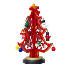 1PC Crafted Wooden Christmas Tree Bookshelf Desk Table