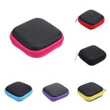 Hot Women Men New Mini Square EVA Case Simple Solid Color Headset Female Male Bluetooth Earphone Cable Storage Box for Headphone(China)