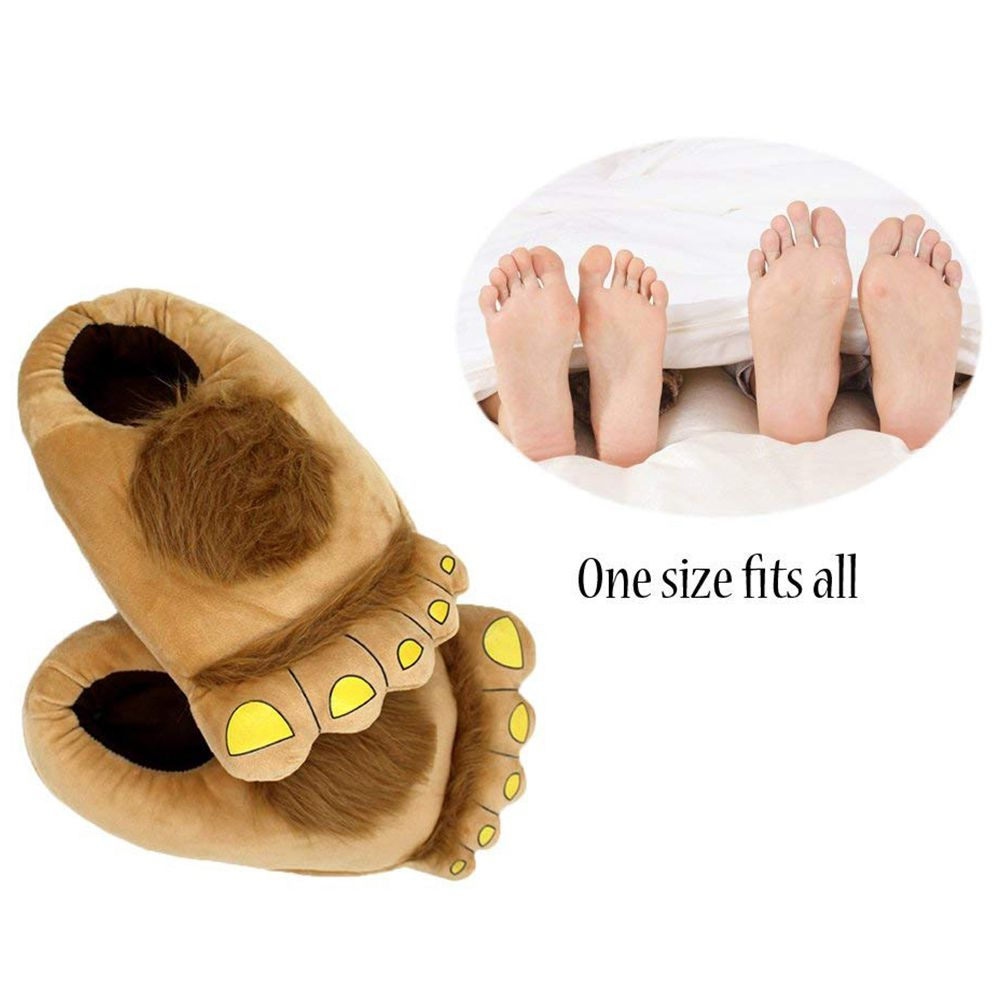 Women's Shoes Cottons Cartoon Feet Slippers Soft Household Thermal Shoes Indoor Novelty Plush Slippers Winter Warm