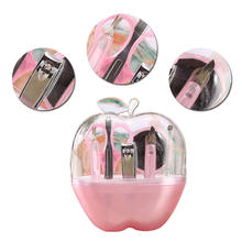 8PCS/Set Nail Tools Kit Apple Shape Accessory Set Cosmetic Makeup Tool Supplies