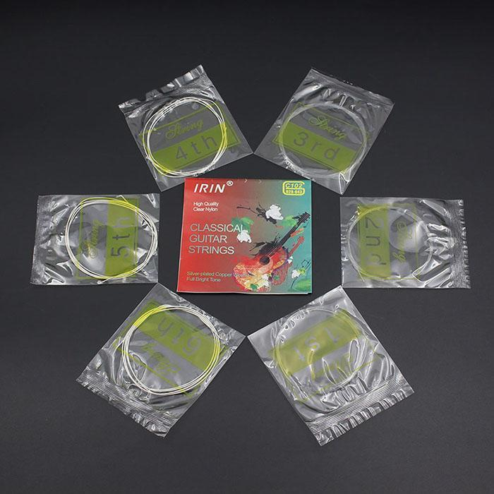 C102 Clear Nylon Fiber Classical Guitar Strings Set 0.71mm/0.81mm/1.02mm/0.76mm/0.89mm/1.09mm Guitar Strings