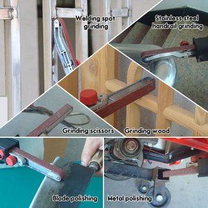 Image 5 - Nuevo adaptador de cinta de lijado DIY para amoladora angular eléctrica 100/115/125 para carpintería M10/M14 de alta calidad
