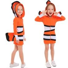 Boy Girl Anime Finding Nemo Costume Halloween Book Week Party Kid Child Clownfish Fantasia Fancy Dress недорго, оригинальная цена