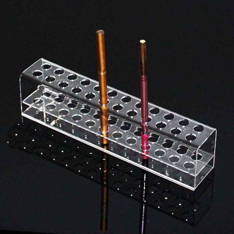Acrylic Pen Pencil Stand Holder Makeup Cosmetic Brush Storage Organizer Rack Eyebrow Pencil Jewelry Display Shelf