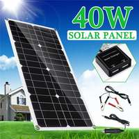 New 40w Solar Panel Portable Double USB Panels Solar Cells Cell Module interface18V for Car Yacht Led Light Boat Outdoor Charger