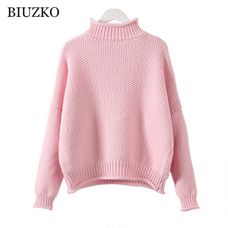 a83958ea8035b7 Luźne koreański styl kobiety sweter stałe dziergany sweter grube kobiety  zima Jumper
