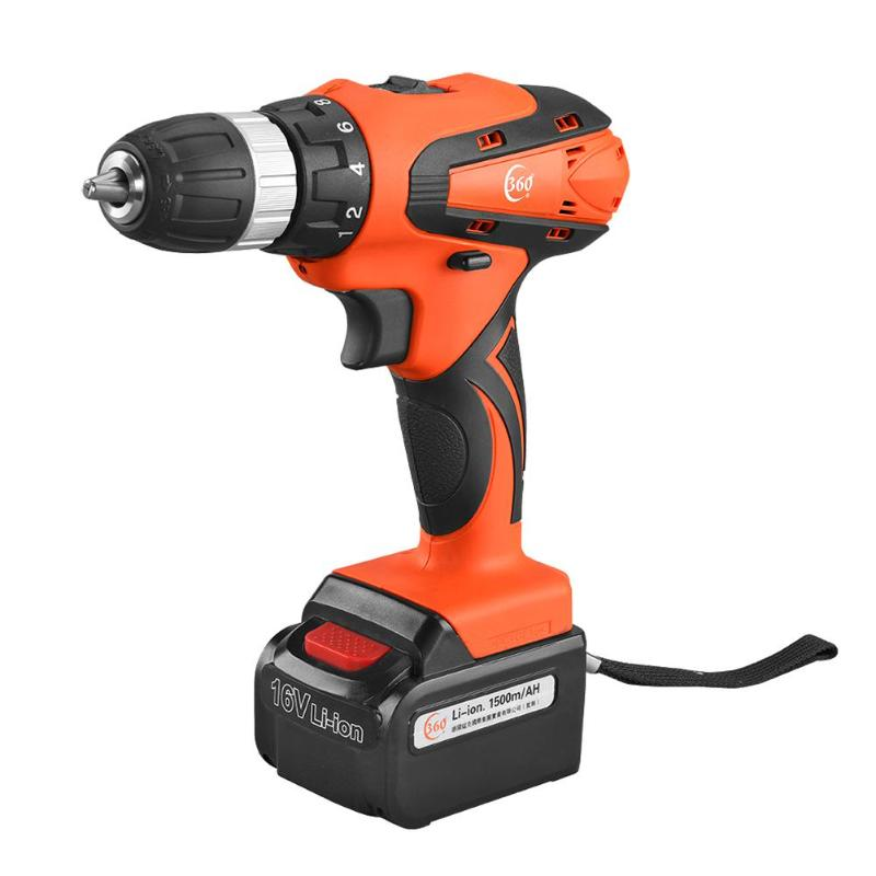 12/<font><b>16V</b></font> Max Electric Screwdriver Cordless Drill Mini Wireless Power Driver DC Lithium-Ion <font><b>Battery</b></font> Multi-functional Charging image