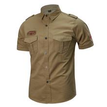 Męskie sporty outdoorowe z krótkim rękawem oddychająca koszula wojskowa mężczyźni lato szkolenia wspinaczka turystyka podróż cienka szczupła taktyczne topy tanie tanio HAIMAITONG CN (pochodzenie) SHORT COTTON Finetex Odporna na mechacenie Koszule ZK0132 Camping i piesze wycieczki Dobrze pasuje do rozmiaru wybierz swój normalny rozmiar