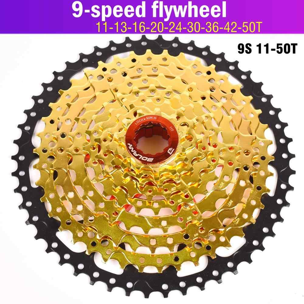 Bolany 9Speed 11-32T Bicycle Gold Cassette Freewheel MTB Bike Flywheel Bike Part