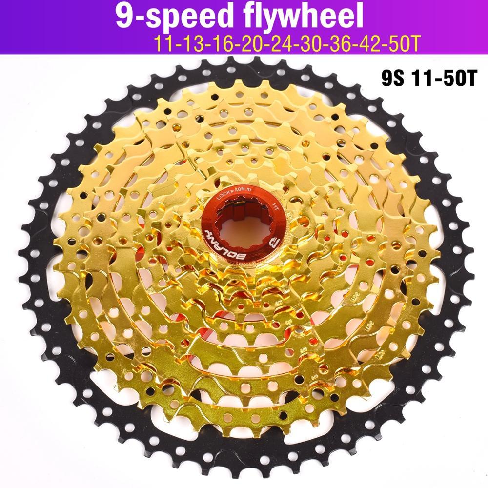 Велосипед Flyheel BOLANY MTB Cassete 9 S 27S 11-42T 50T 32T горный велосипед запчасти 9 скоростная кассета свободного хода велосипеда совместимое золото